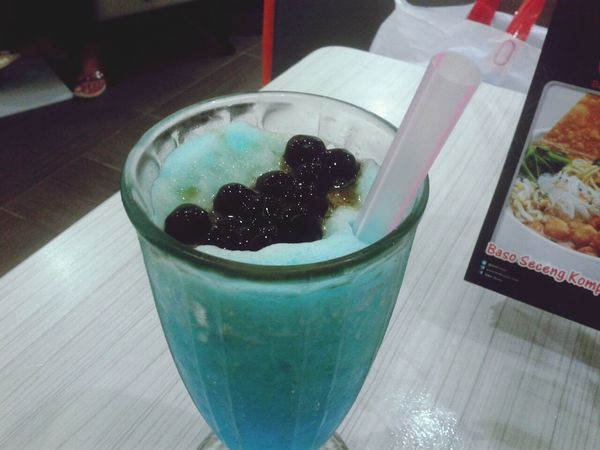 Blue buble Fresh Drink Relaxing Culinary Photo By Lisanoya
