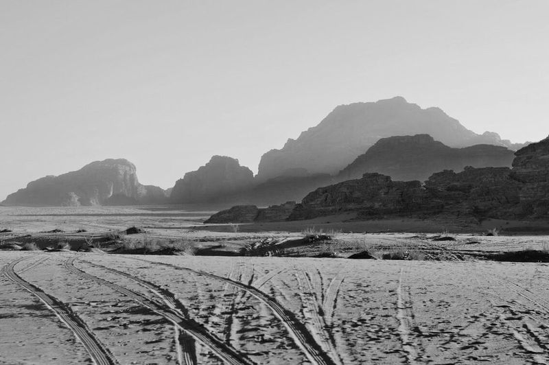 Mountain Nature Outdoors No People Sand Scenics Landscape Desert Day Clear Sky Beauty In Nature Blackandwhite Black & White