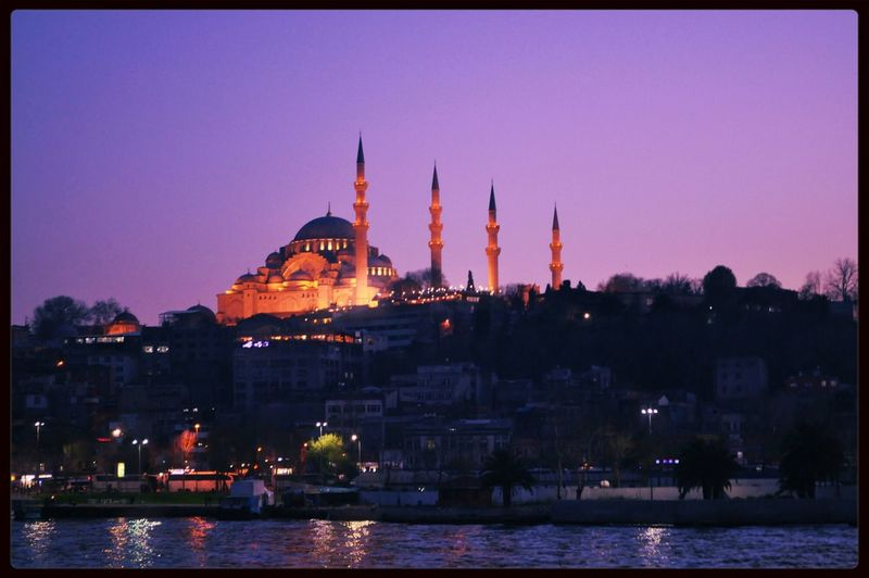 Mosque Istanbul Sea Sunset