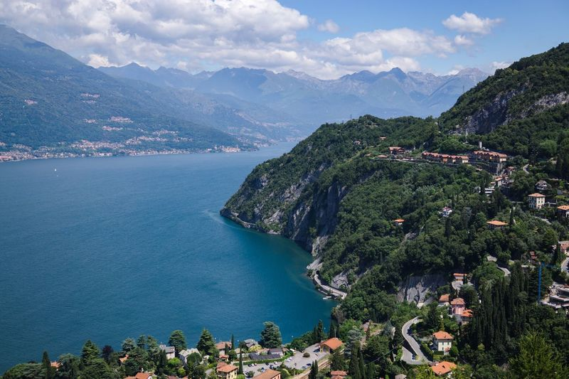 Comer Sea - Italy Water Mediterranean  Scenics - Nature Holidays Vacation Vacations Holiday Sea And Sky Seascape Italy❤️ Italia Italy Lago Di Como Mountain Water Scenics - Nature Beauty In Nature Sky Tree Mountain Range Cloud - Sky Sea Nature Tranquil Scene Architecture Tranquility No People Land Day Outdoors