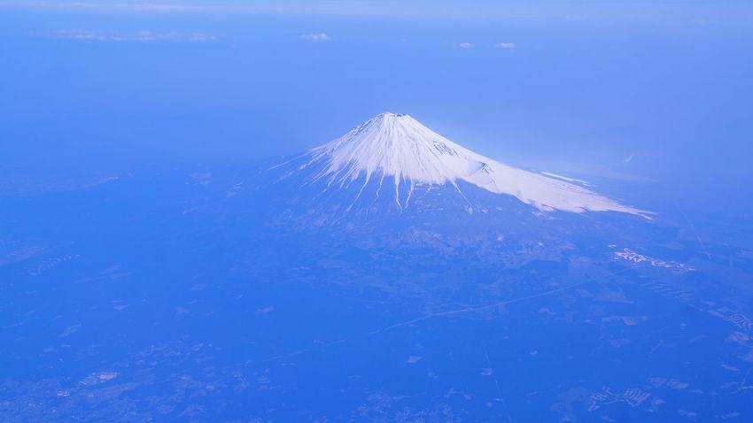 富士山 山 青 日本 Japan Fujl