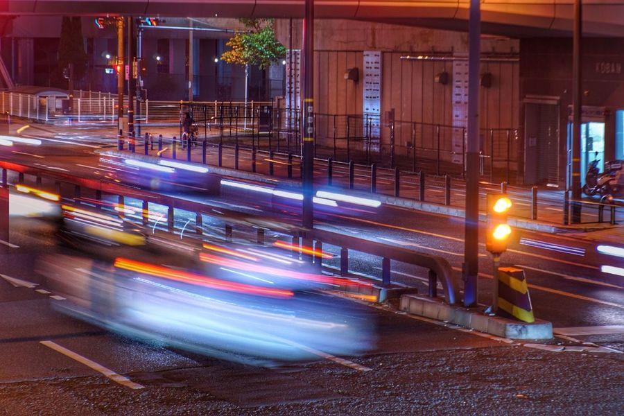 Blurred Motion Motion Speed Long Exposure Illuminated Transportation Night Light Trail Street City Land Vehicle No People Architecture Outdoors Vintage Lenses Jupiter9 EyeEm Best Shots Japan オールドレンズ