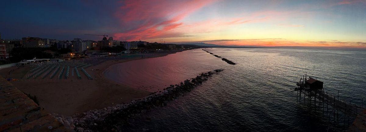 Sunset Sky Scenics Sea Beach Cloud - Sky Water No People Molise Termoli