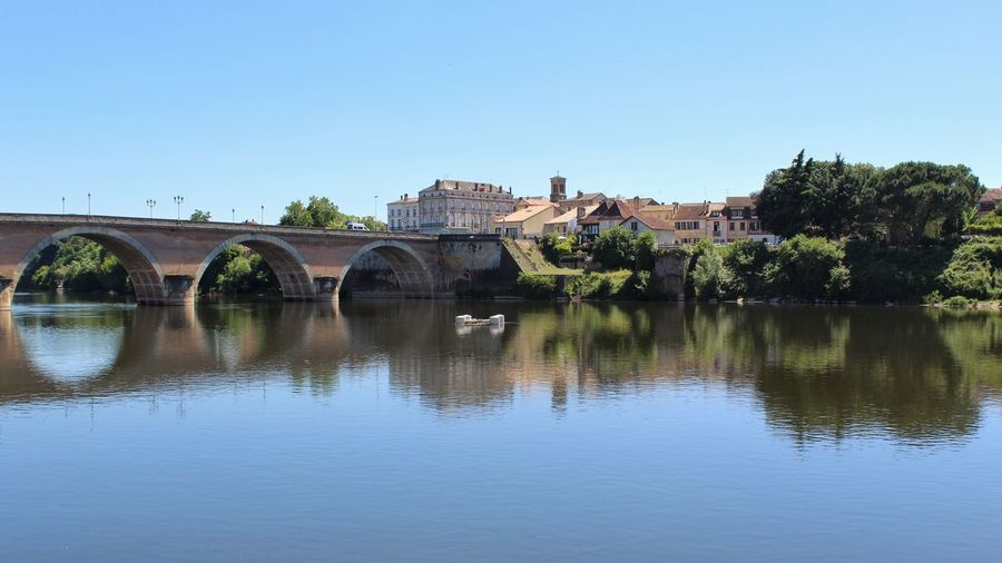 Another Bridge over a French River Bergerac France Tadaa Community Built Structure Water Architecture Bridge Sky Clear Sky Connection Bridge - Man Made Structure River Arch Waterfront Arch Bridge