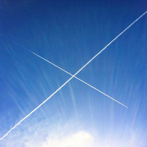Fly high Sky Airplanes Cross High