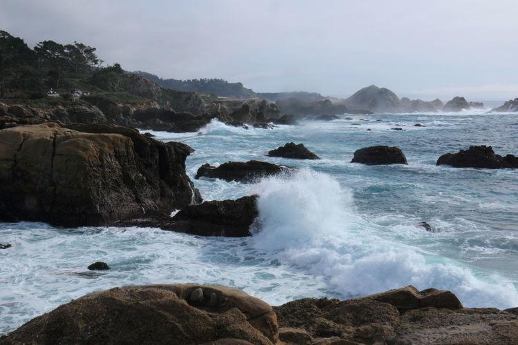 View of rocky coastline