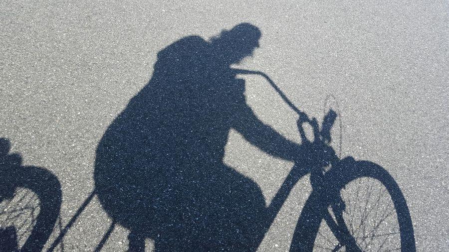 Light And Shadow Me Biking