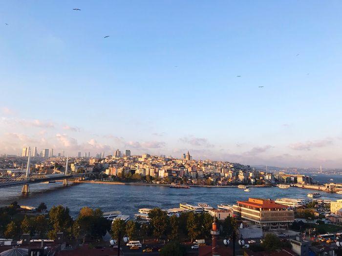 Historical Beauty = İstanbul Historic History Skyscraper Cloudporn Cloud - Sky Sunlight Sunrise Sun Bosphorus Haliç Galata Istanbul Architecture Building Exterior Built Structure Cityscape Cloud - Sky Bird EyeEmNewHere