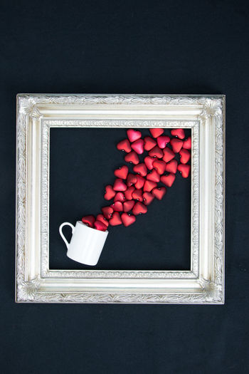 bursting with love Bursting Love Valentine Valentine's Day  Arttistic Close-up Cup Frame No People Red Spill Studio Photography