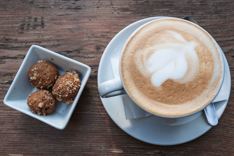 Coffee and cookies Food And Drink Coffee - Drink Coffee Coffee Cup Cup Drink Mug Refreshment Food Saucer Freshness Table Crockery Still Life Frothy Drink Cappuccino High Angle View Indoors  Kitchen Utensil Eating Utensil Hot Drink No People Latte Meal Positive Emotion
