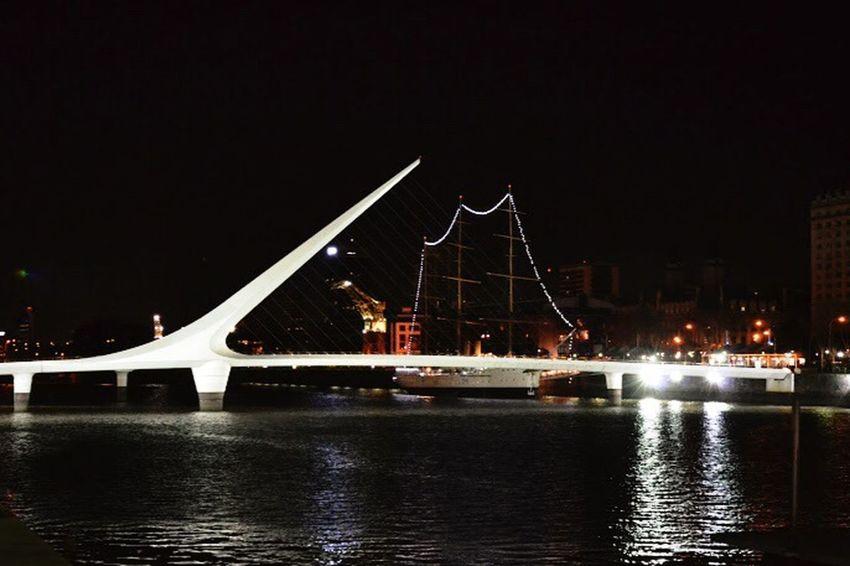 Puente de la Mujer Argentina Puentedelamujer Puertomadero Buenosaires Bridge Capitalfederal Beautiful Night River Woman's Bridge