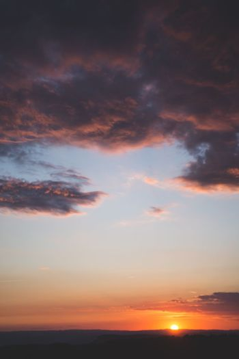 Sunset Beauty In Nature Scenics Sky Tranquil Scene Tranquility Nature Cloud - Sky Orange Color Majestic Idyllic Outdoors No People Silhouette Water
