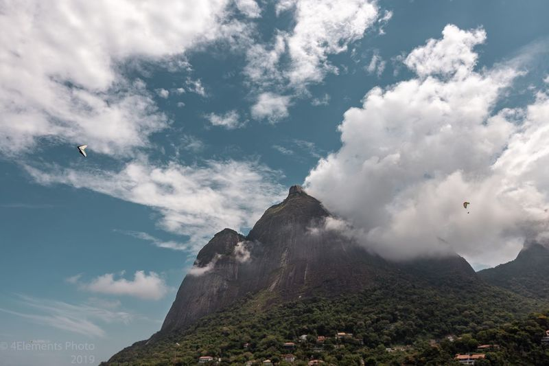 Pedra da Gávea Cloud - Sky Sky Nature Day Scenics - Nature Beauty In Nature No People Mountain Low Angle View Flying Outdoors