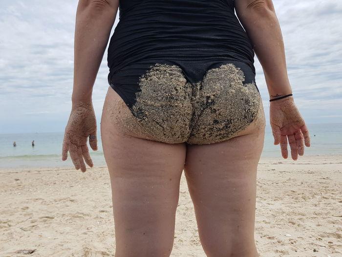 Bum Sand EyeEm Selects This Is My Skin Low Section Water Sea Beach Young Women Sand Summer Human Leg Standing Beach Holiday Bikini Bottom Coastline Bikini