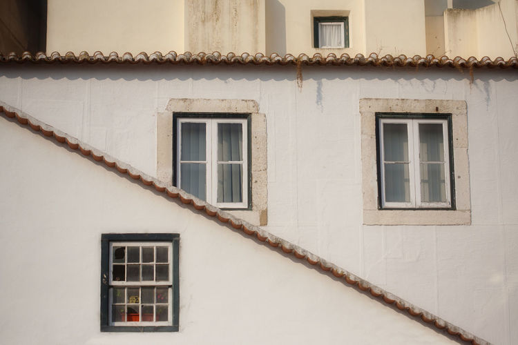Architecture Building Exterior Built Structure Lisbon Street Repetition Tile Roof Window Window Frame