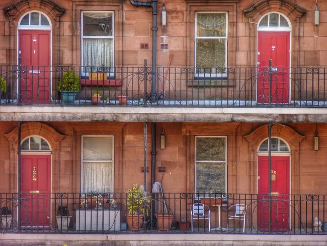 Glasgow Tenement building Tenements Scotland Glasgow  Architecture Architecture Building Exterior Built Structure Window Building Entrance The Architect - 2018 EyeEm Awards No People Door City Day Street Outdoors Façade Residential District House