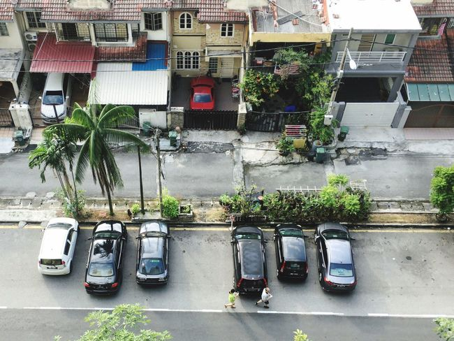 A Bird's Eye View Morning ASIA Father And Daughter Car Road Residential Structure Outdoors Transportation