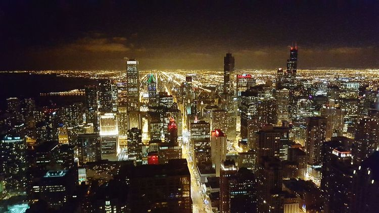 Chicago Chicago Architecture Downtown Downtown Chicago Nightphotography Night Photography Night Lights Night View Night City Cityscapes Cityscape Beautiful Peace And Quiet HancockTower Hancock Hancockbuilding After Work Wednesday Stunning Serene Concrete Jungle Hello World