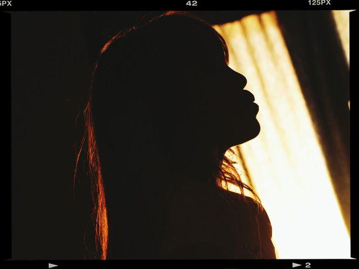 Nikon D80 And EYEemEditing My Beautiful Girl <3 Warm Silhouette Kiss Taking Photos ❤
