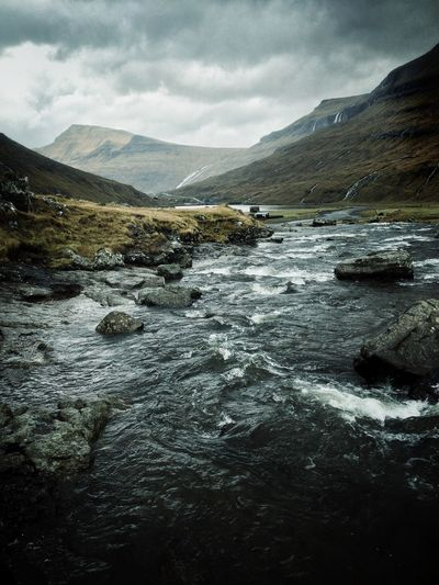 Faroe Islands Färöer On Location Landscape While waiting for a shot to be set up I spun around & looked down the river