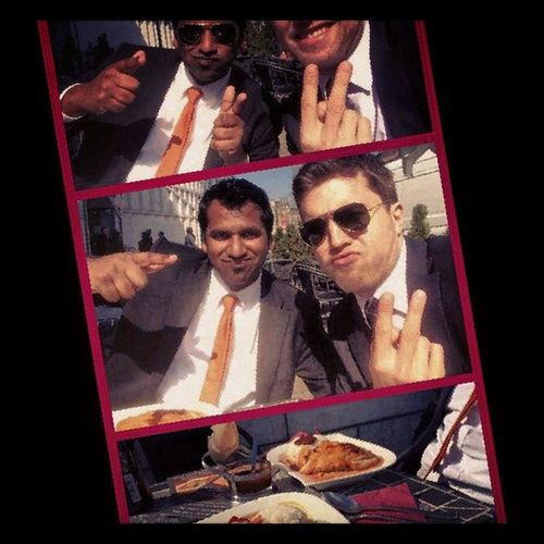 Thaifood Businesslunch Tamil German friendship sun fun sunglasses
