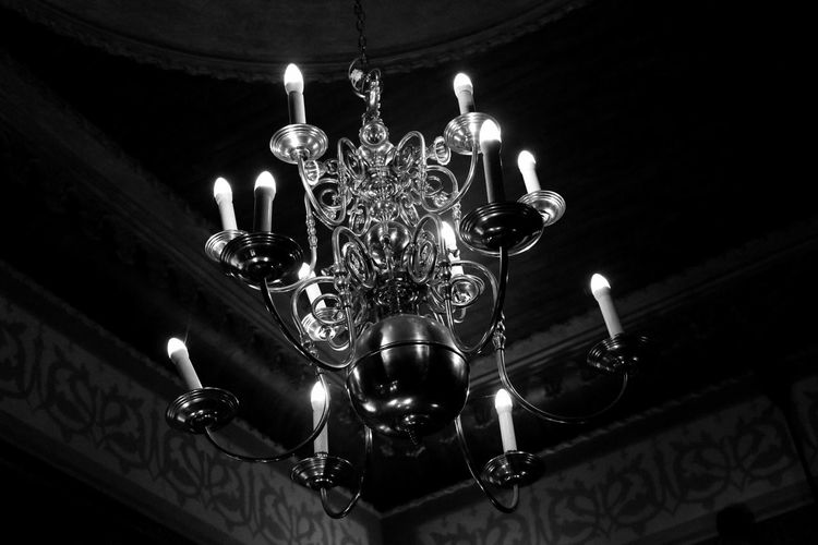 Antique Black & White Ceiling Ceiling Lights EyeEm Best Shots - Black + White Hanging Light Lighting Equipment Lights Low Angle View Black And White Ceiling Design Ceiling Light  Chandelier Close-up Day Decoration Electric Light Electricity  Glowing Illuminated Indoors  Luxury No People Ornate