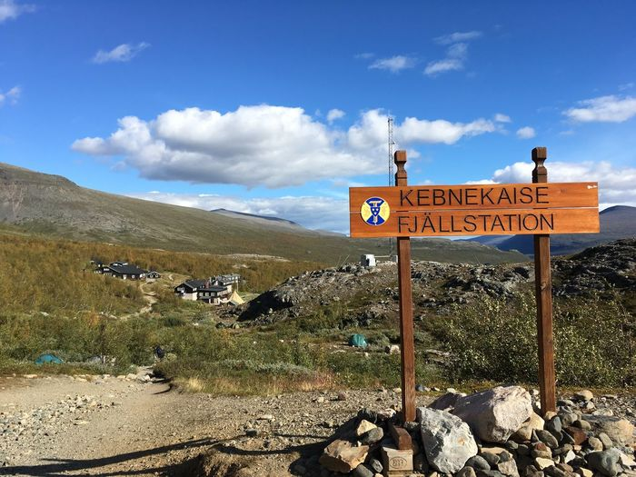 Hiking Kebnekaise Kungsleden Lapland Lappland Nature Nature Photography Sign Summer Views Sweden Swedish Nature Day Fjällstation Hiking Trail Hikingadventures Kebnekaisen Kings Trail Landscape Mountain Range Nature No People Northern Sweden Outdoors Scenics Sky