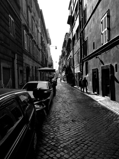 Rome Italy Noir Travel Citylife Streetphotography Streetlife City Car Land Vehicle Street Architecture Sky Building Exterior Built Structure