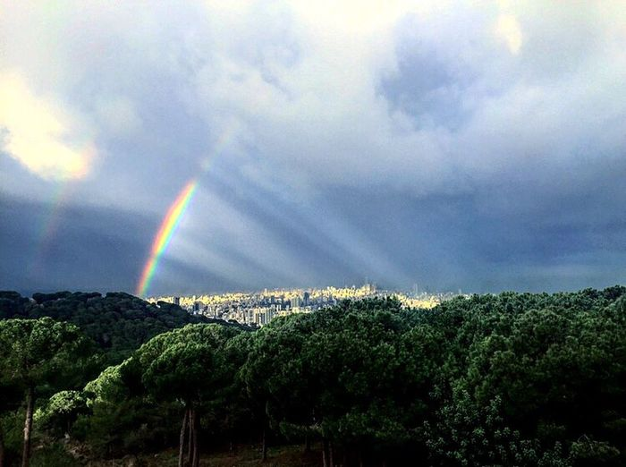 Lebanon Beirut Lebanon Nature Tree Sky Hello World Mountain City Light Relaxing Colors Rainbow Beauty In Nature Sun