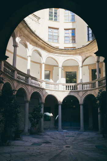Backyard Court Mallorca Palma Arch Architecture Built Structure Day History Indoors  No People Spaın