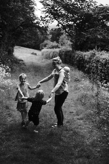 Live For The Story Childhood Child Full Length Togetherness Bonding Family Happiness Mother Family With One Child Fun Girls Smiling Daughter Females People Males  Casual Clothing Cheerful Playing Leisure Activity