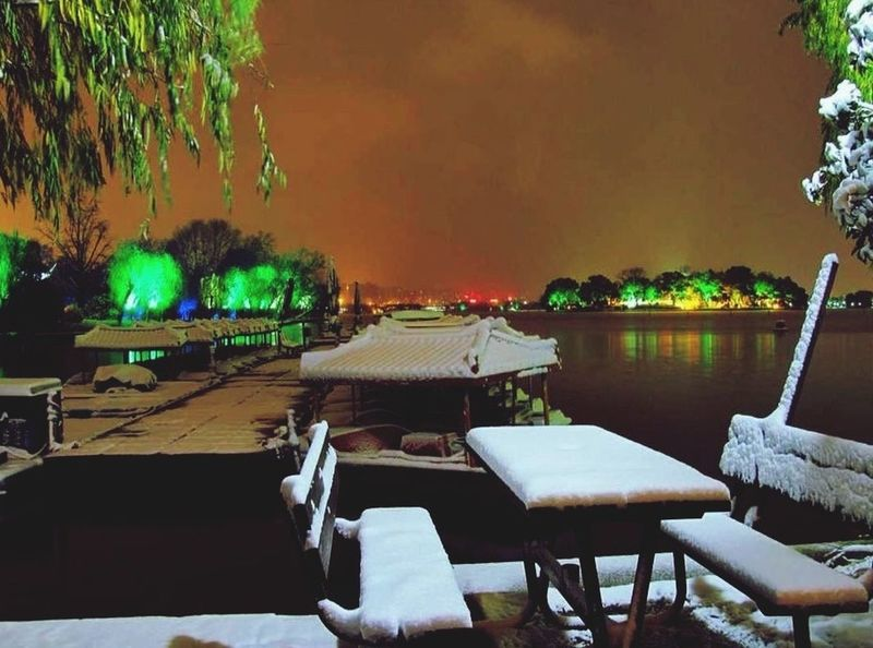Nanhu lake City Jiaxing Snow ❄ Snow Lake