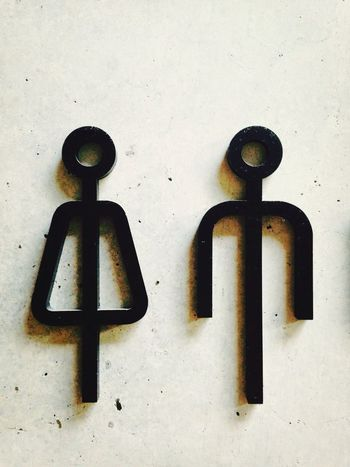 Toilet Art Man And Woman