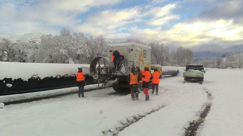 Winter Snow Sky Nature Outdoors People Cloudy Pipeline Oilandgas Morning Engineering Aut Ndt TANAP Applus+