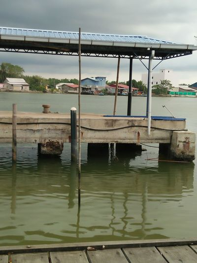 Water Sky Morningview Fishermanvillage Scenics Reflection Jetty Park Kampunglife