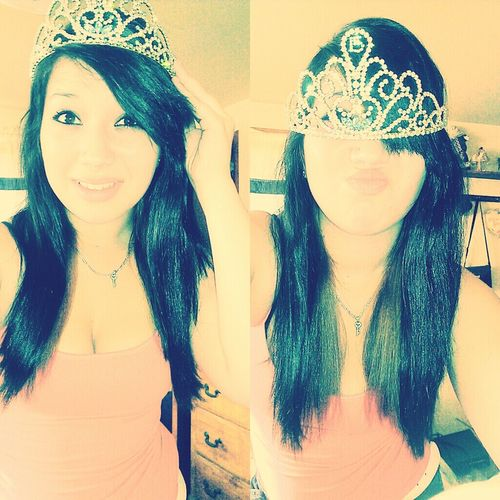 pick your head up princess your tiara is falling <3