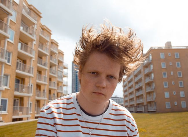 Sommergefühle Striped One Person Casual Clothing Headshot Portrait Teenager People Teenagers Only Outdoors Building Exterior One Teenage Boy Only Looking At Camera City Day Architecture Looking At Camera Front View Adult One Woman Only Apartment Child Blond Hair Close-up Sky