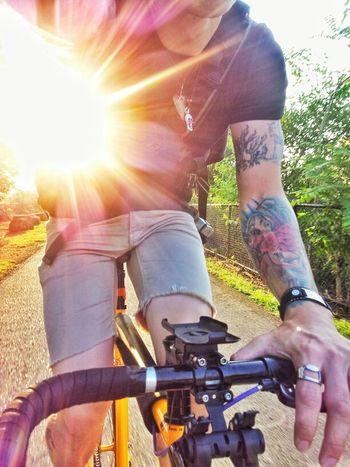Taken July 2012. I miss summer. So very much. Bike Ink Fixed Gear Shark Tattoos Fixie Mercier Dropbars Sunporn Kilo Tt Shark Tattoo Summer
