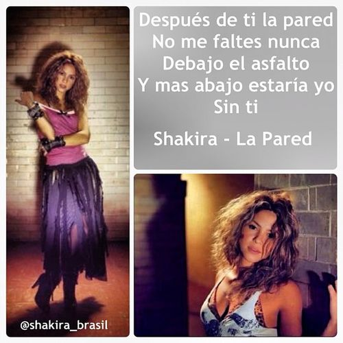 Shakira - La Pared Shakirabrasil Shakira ShakiraLyrics