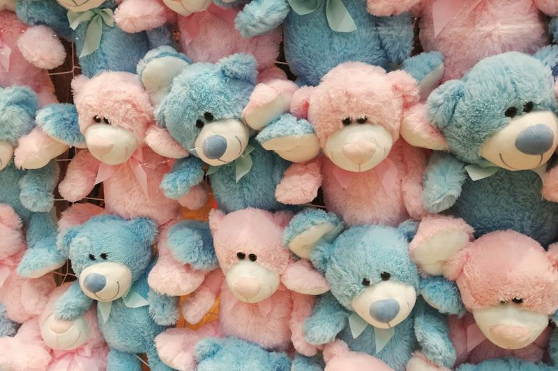Toys Backgrounds Large Group Of Objects Close-up No People Blue Pink