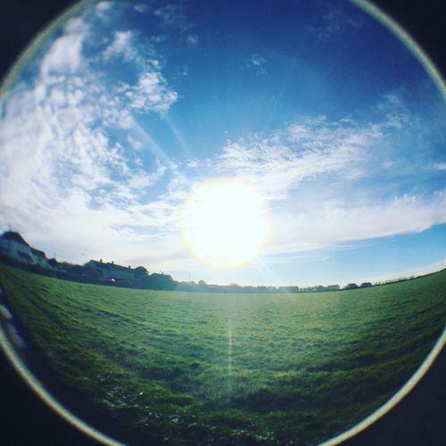 Orb Sky's Sky Sun Orb Fish Eye Fish Eye Lens Sunny Fields EyeEmNewHere