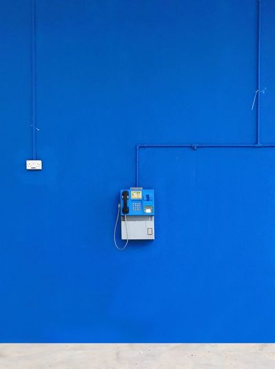 Telephone on a wall