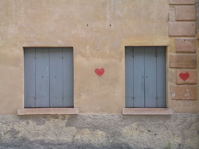 Architecture Building Exterior Built Structure Close-up Closed Day Door Heart Shape Love No People Outdoors