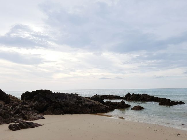 Shore Beach Beach Photography Enjoying Life Hello World Horizon Horizon Over Water Water Evening Rock Sea And Sky Sand Sea Thaibeach White Sand Beach