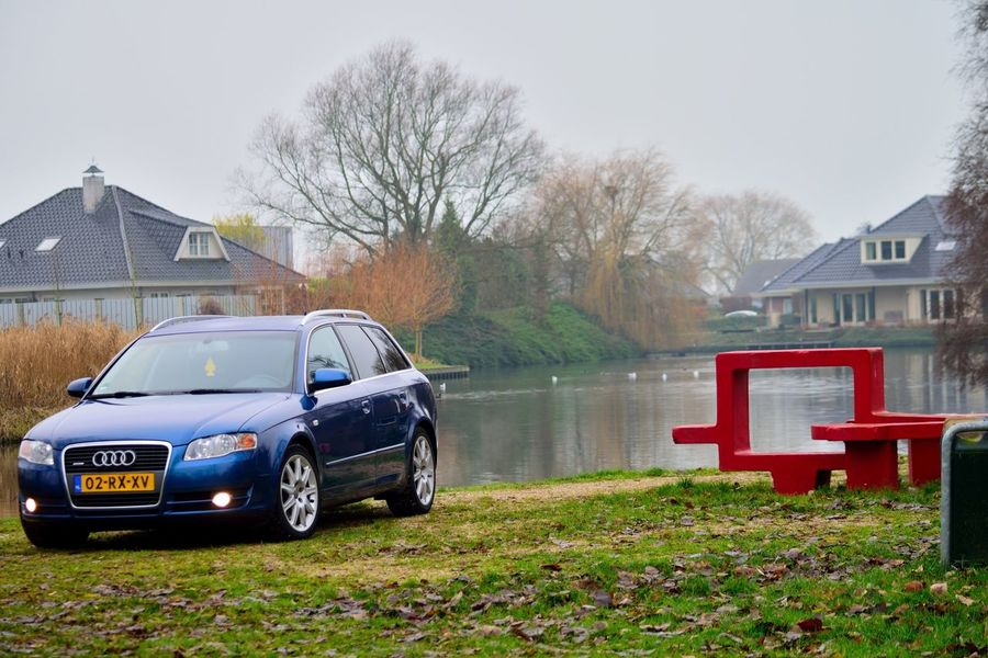 Audi A4 Transportation No People Outdoors Day Audi Nederland Close-up Grass Car Mode Of Transport Grootebroek Lifestyles Quattro Audi ♡ Audi A4 Quattro