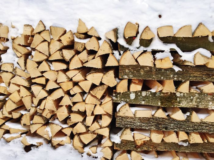 Pile of wood with lots of snow Snow Woodpile Stack Timber Log Heap No People Large Group Of Objects Close-up Forestry Industry Wood Wooden Textures And Surfaces Wood - Material Backgrounds Wood Pile Piled Up Pile Of Wood White Color Brown Snow Covered