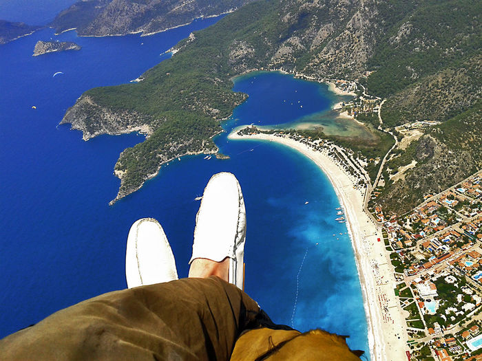 Flying High Shoes Shoes Of The Day Blue Blue Sea Flying Paragliding Parachute Welcome To Black Go Higher