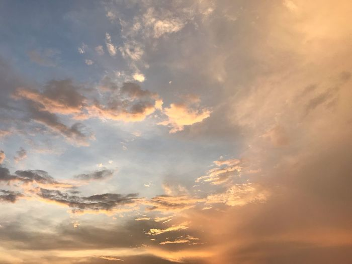 Cloud - Sky Sky Sunset Beauty In Nature Tranquility Backgrounds Nature Dramatic Sky