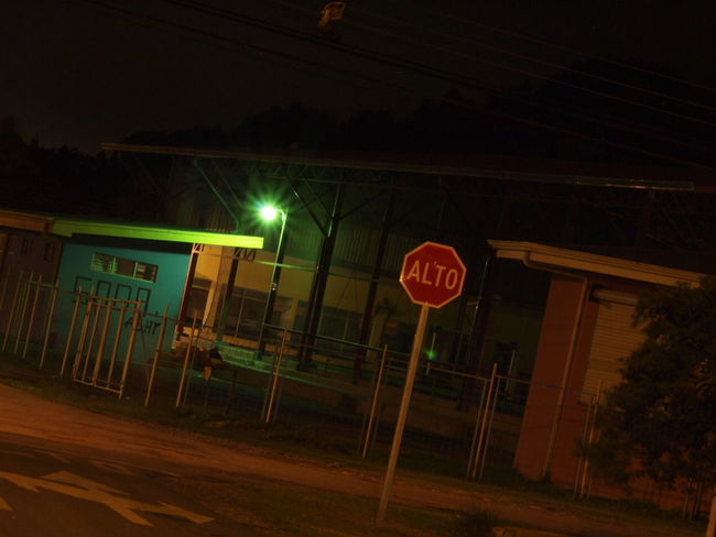 Dark EyeEmNewHere Architecture Darkness And Light Illuminated Night No People Road Sign Stop