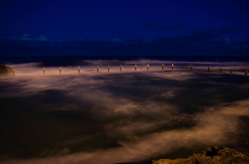 Beach Beauty In Nature Cloud - Sky Dusk Environment Horizon Land Landscape Nature Night No People Outdoors Power In Nature Scenics - Nature Sea Sky Tranquil Scene Tranquility Water